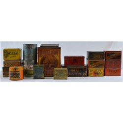 17 Antique Tobacco Tins