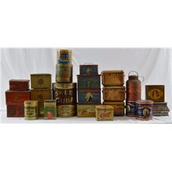 Large Collection Of Antique Tobacco Tins