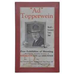 Ad Topperwein Winchester Exhibition Shoot Poster