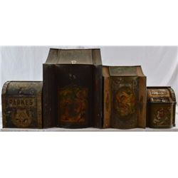 Four Antique Country Store Tins