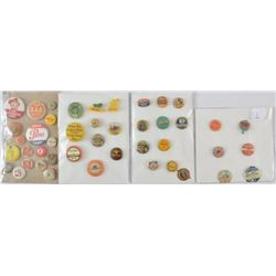 Collection of 44 Vintage Advertising Pinbacks