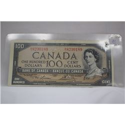 1954 Canada One Hundred Dollar Bill - Lawson, Bouey - Modified