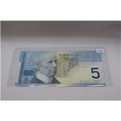 2002 Canada Five Dollar Bill - as Uncirculated