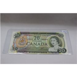 1969 Canada Twenty Dollar Bill - Near Uncirculated