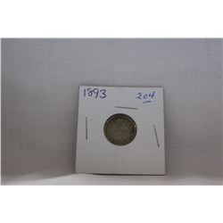 Canada Ten Cent Coin - (1) 1893 (Flat Top 3) - Silver