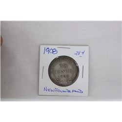 Nfld. Fifty Cent Coin (1) 1908 - Silver