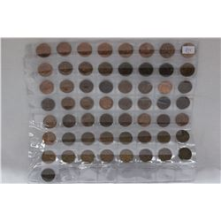 Collection of 57 U.S.A. Pennies
