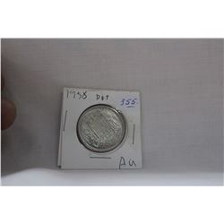 Canada Fifty Cent Coin (1) 1958 (AU) - Silver