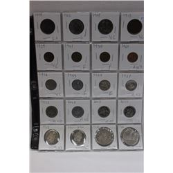 Canada Coins - 1, 5, 25, 50¢ & $1.00 (20) - Note - 2002 Fifty Cent Coin is MS63