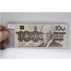 Canada One Hundred Dollar Bill - 1988 - BJM0838848 - AU