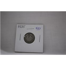 Canada Ten Cent Coins (1) 1935 - Low Mintage - Silver