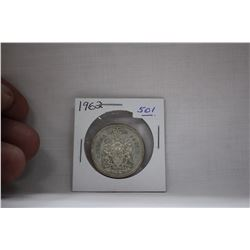 Canada Fifty Cent Coin (1) 1962 - Silver