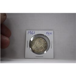 Canada Fifty Cent Coin (1) 1961 - Silver