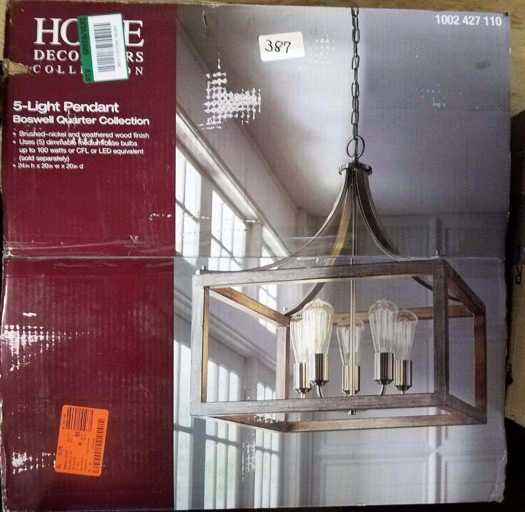 Home Decorators Collection 5 Light Pendant Boswell Quarter