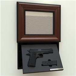 HANDGUN CONCEALMENT IN-WALL PICTURE FRAME