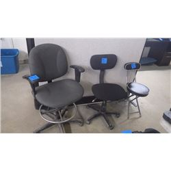 3 ASSORTED OFFICE CHAIRS