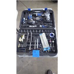 CASE MASTERCRAFT AIR TOOL W/ASSORTED BIT AND ATTACHMENTS