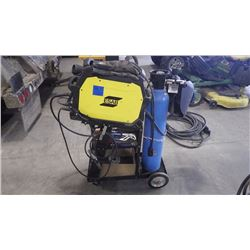 ESAB WELDER W/CART, TANK, TOOLS, HELMUT AS PICTURED
