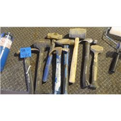 8 ASSORTED HAMMERS