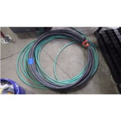 "APPROXIMATELY 50' - 1"" WATER PIPE, AND 1/2"" RUBBER GARDEN HOSE"