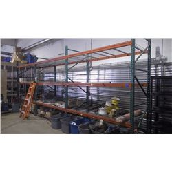 3 SECTIONS APPROXIMATELY 25' HEAVY DUTY STEEL SHELVING