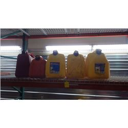 FOUR 20L FUEL CANS AND ONE 10L