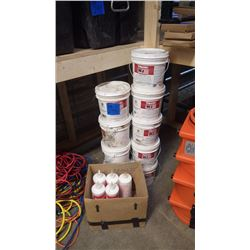 9 PAILS OF WINTER GRADE CABLE LUBRICANT WJ TYPE AND 5 QUARTS OF TYPE J CABLE LUBRICANT