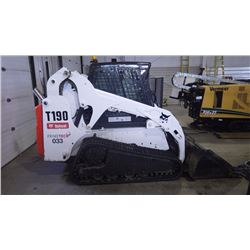 2008 BOBCAT T190 TRAC LOADER VIN 531620203 WITH DIGITAL GAUGE PACKAGE, HEATER, AIR CONDITIONING, RAD