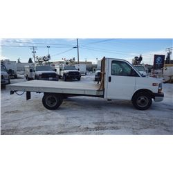 2010 CHEVROLET C3500 CUT AWAY DUALLY WITH 12' FLAT DECK…NO PST... VIN 1GB6G2BG8A1163717  12300 LB GV