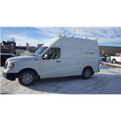 2012 NISSAN NV 2500 HIGH ROOF 5.6L V8 VIN 1N6AFOLY7CN100671 …BOTH TAXES...WITH 47837 KMS FULL OPTION