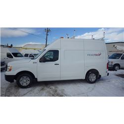 2012 NISSAN NV 2500 HIGH ROOF 5.6L V8 VIN 1N6BFOLY3CN104267 ….BOTH TAXES….WITH 76014 KMS FULL OPTION