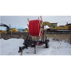 2015 MAJESTIC REEL TRAILER VIN 2M9US1162FR151213 WITH WINCH, COMES WITH ROLL OF HDPE PIPE AS PICTURE