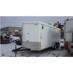 16' V NOSE H & H TANDEM AXLE CARGO TRAILER VIN 533TC1626FC241102WITH SIDE DOOR AND REAR RAMP DOOR, I