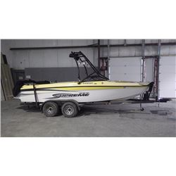 2004 SKY SUPREME 220SP SKI BOAT WITH 350 MAGNUM V8, SKI TOWER, FULL GAUGES, STEREO, TANDEM AXLE TRAI