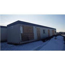 MOD SPACE OFFICE TRAILER ON STEEL SKIDS APPROX 12' X 60' NO LEAKS, MOLD OR INTERIOR WATER DAMAGE FRO