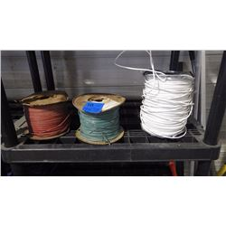 3 ROLLS OF COPPER WIRE AS PICTURED