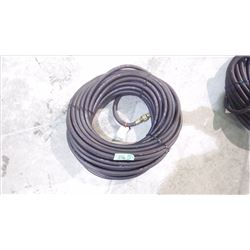 """APPROX 50' SCOTT 3/8"""" PSI BLACK AIR HOSE WITH DELUXE LOCKING COUPLERS USA MADE"""