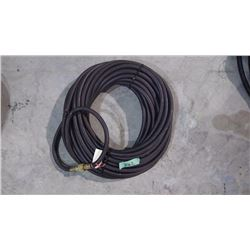 "APPROX 50' SCOTT 3/8"" PSI BLACK AIR HOSE WITH DELUXE LOCKING COUPLERS USA MADE"
