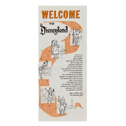 Welcome to Disneyland Gate Flyer.