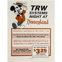 Disneyland 1967 Ticket Booth Poster.