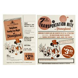 Pair of 1969 Disneyland Ticket Booth Posters.