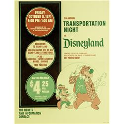 1971 Disneyland Ticket Booth Poster.