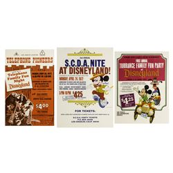 Set of (3) 1972 Disneyland Ticket Booth Posters.