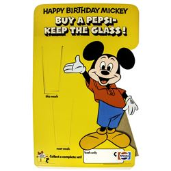 Happy Birthday Mickey Pepsi Counter Display.