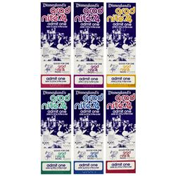 "Set of (6) ""Grad Nite '74"" Color Variant Tickets."