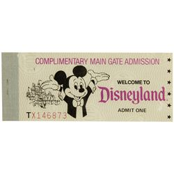 Disneyland Complimentary Main Gate Admission Book.