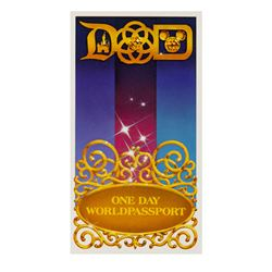 "Disney Parks One Day ""World Passport""."