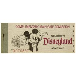 Complete Complimentary Main Gate Admission Ticket Book.