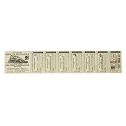 "Complete Child ""Disneyland Railroad"" Ticket."