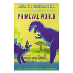 "Original ""Primeval World"" Attraction Poster."